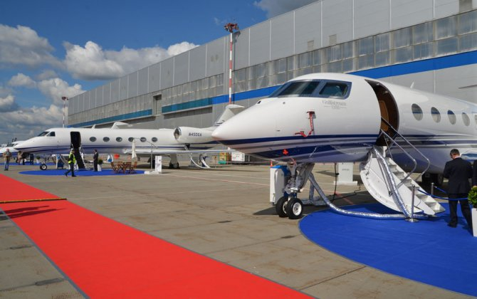 10th International Business Aviation Exhibition Jet Expo 2015 in Moscow