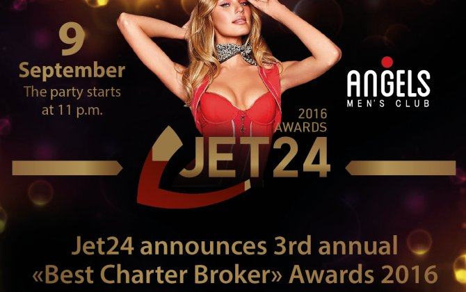 "Jet24 announces ""Best Charter Broker"" Awards of 2016"