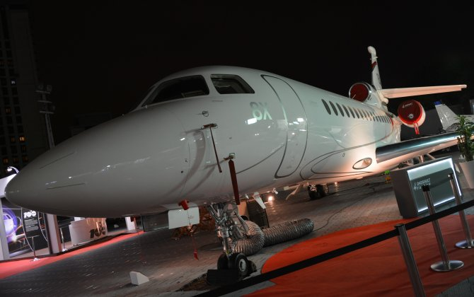 Falcon 8X nightshot at LABACE 2016