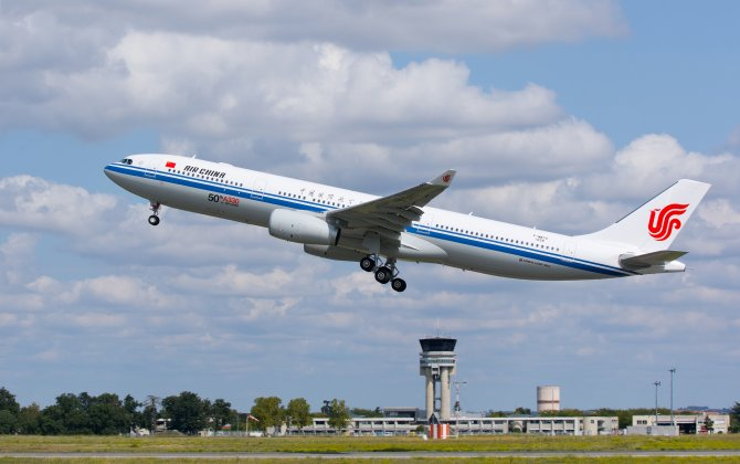 50th A330 for Air China successfully completes maiden flight