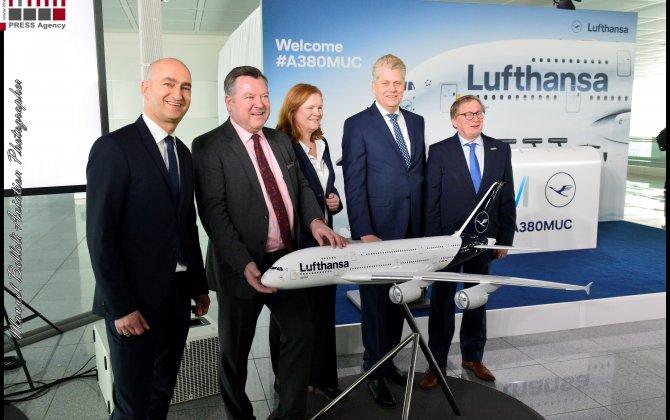A380 LUFTHANSA MUNICH AIRPORT