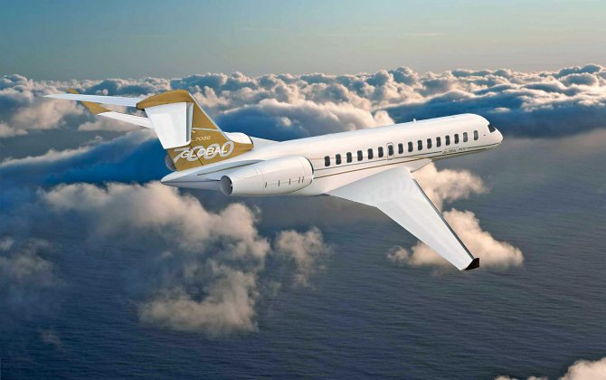 Bombardier Mounts Engines on First Global 7000 Test Vehicle