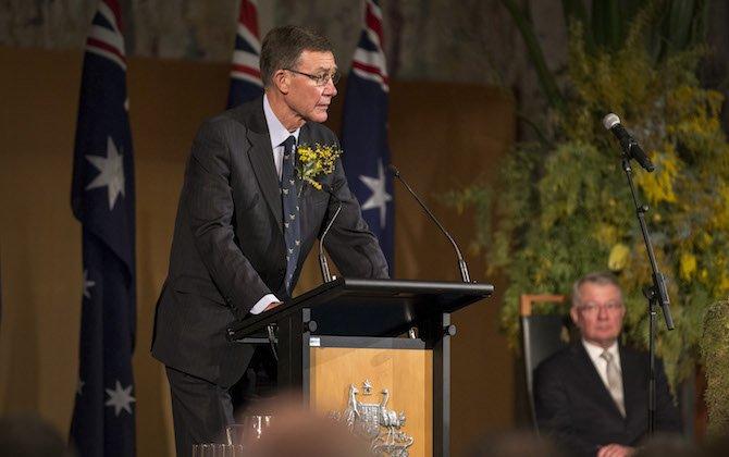 Sir Angus Houston awarded Oswald Watt Gold Medal