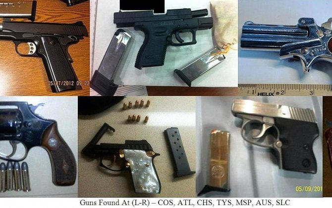 Record Number of Guns Found in U.S. Airport Searches: TSA