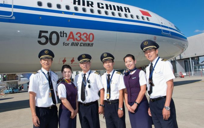 Air China takes delivery of its 50th A330