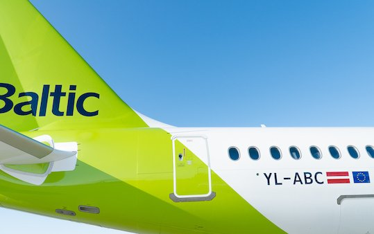 29th airBaltic Airbus A220-300 flew to homebase