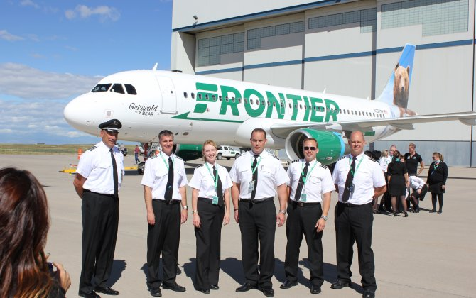 Frontier Flight Attendants Protest Cuts to Sick-Leave Policy