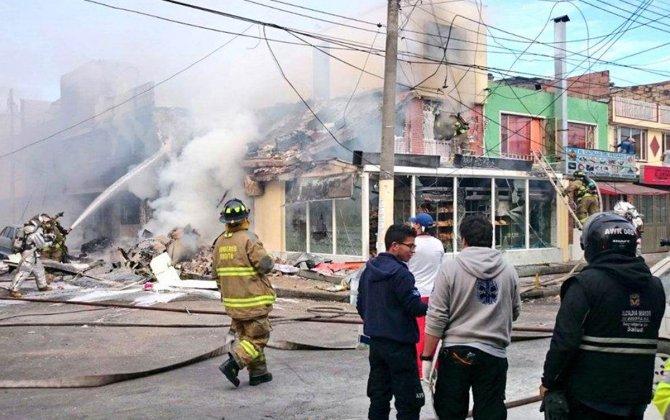 Small plane crashes in Bogota, 5 killed