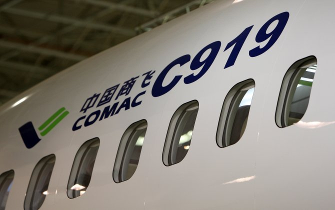 COMAC Rolls Out First C919 in Shanghai