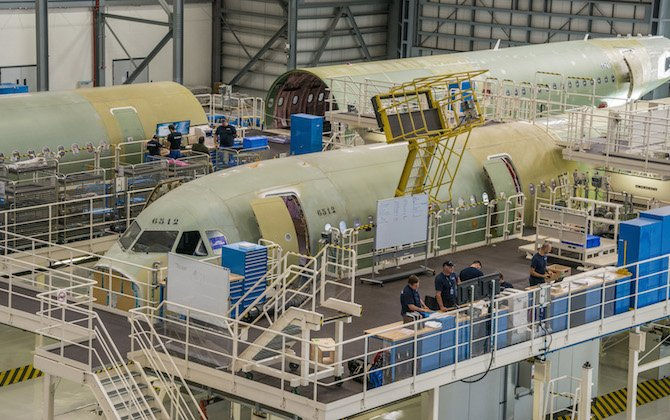 Airbus confirms A320 production increase to 60 aircraft a month by 2019