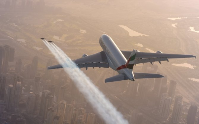 Remember the crazy Emirates commercial where men flew alongside a plane in jetpacks? Here's how they made it