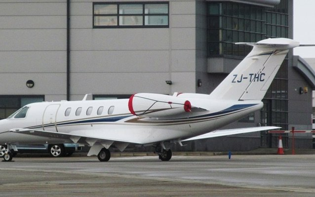 Jersey registers first business jet