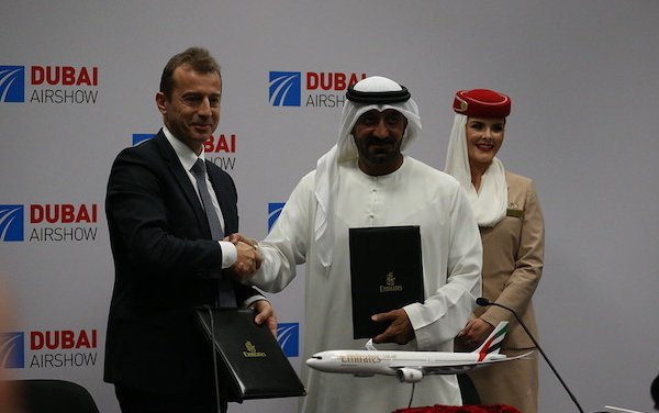 50 A350XWB order for Emirates signed at Dubai Airshow 2019