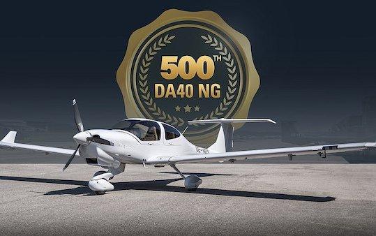 500th Austrian-built Diamond Aircraft DA40 NG