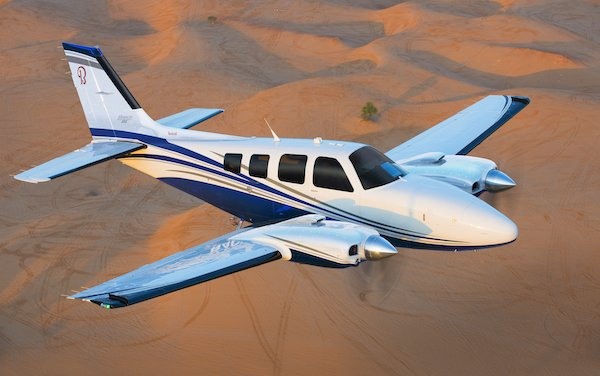 50th anniversary of the first flight of its Beechcraft Baron 58