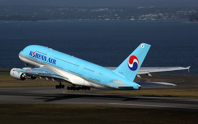 Korean Air begins A380 flights to Sydney