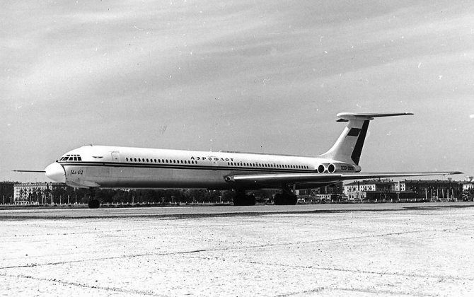 55 years since the first flight of Ilyushin Il-62 in the USSR