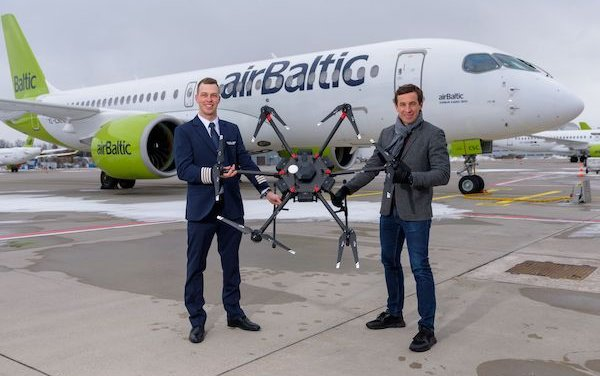 A collaboration on drone innovations - airBaltic and LMT