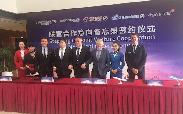 A Join venture cooperation: Air France, KLM, China Eastern and Virgin Atlantic