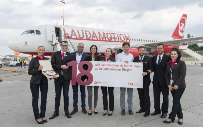 A warm welcome to Laudamotion! Laudamotion starts up in Berlin