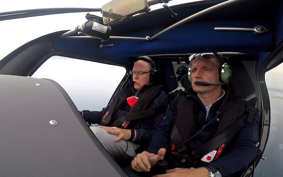 A world first - H.S.H Prince Albert II of Monaco flies electric