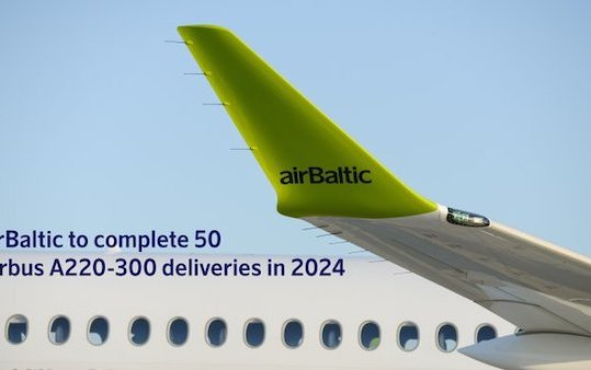 A220-300 delivery schedule revised by airBaltic and Airbus to complete firm order in 2024
