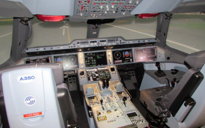 A350 XWB full-flight simulator installed at Airbus Training Center in Miami