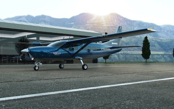 Accelerating electrified commercial travel - Surf Air Mobility orders up to 150 Cessna Grand Caravan EX
