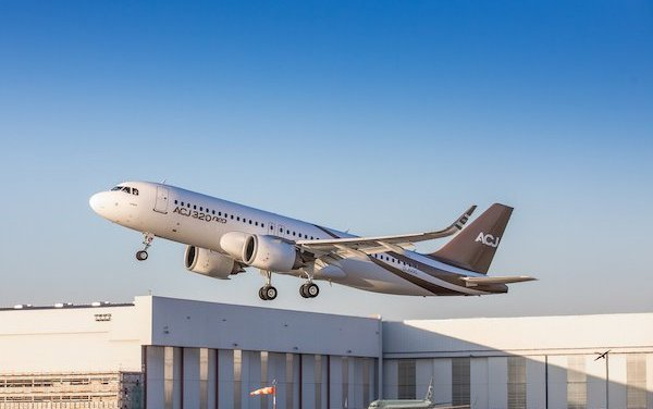 ACJ320neo takes to the skies for the first time