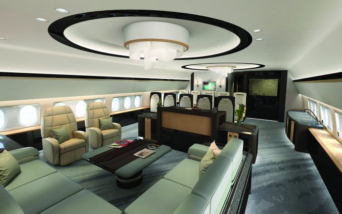 AERIA Luxury Interiors Redelivers First Green BBJ