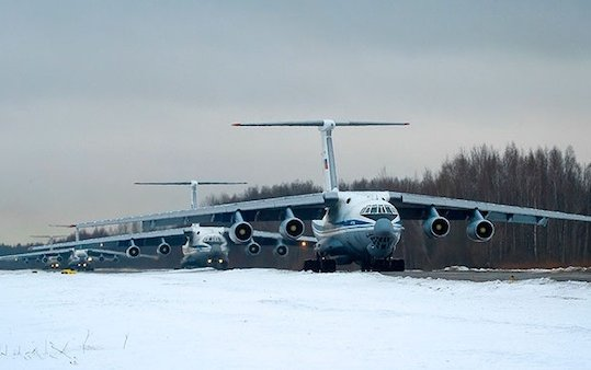Aerospace Forces of Russia fly to help Italy to fight COVID-19