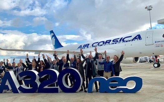 Air Corsica received its first Airbus A320neo