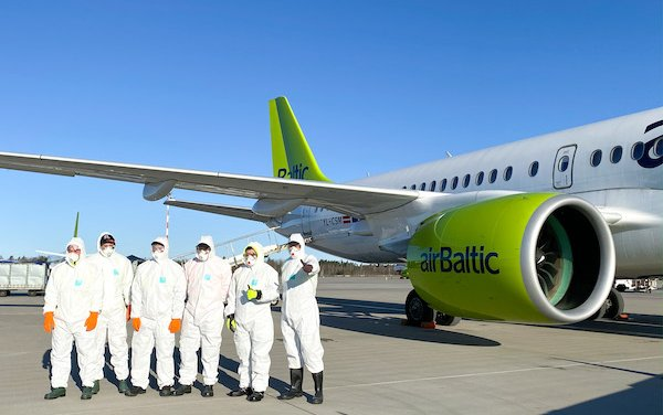 airBaltic Carries Next One Million Face Masks to Latvia