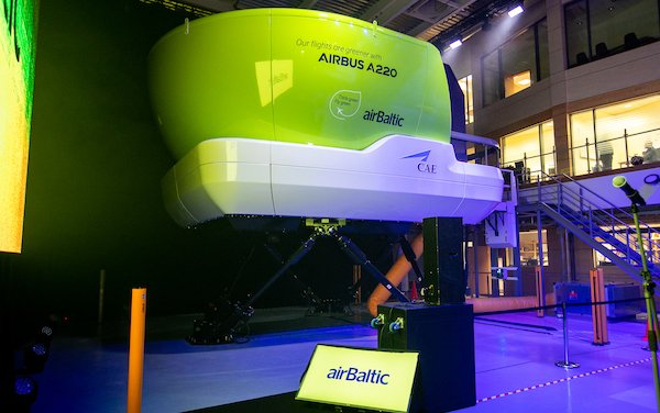 airBaltic Presented Airbus A220 Full Flight Simulator