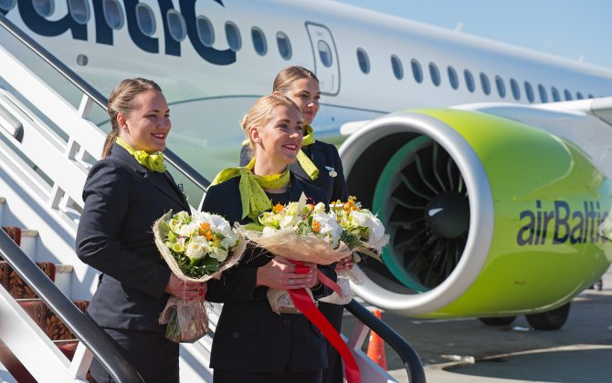 airBaltic presents first-ever Bombardier CS300 in Russia at Sheremetyevo Airport