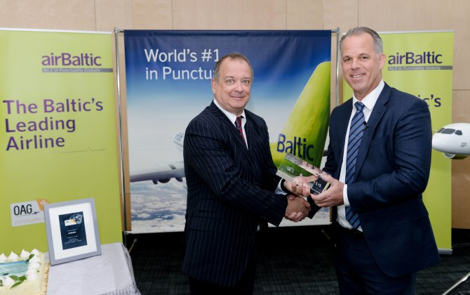 airBaltic Receives the World's Most Punctual Airline Award
