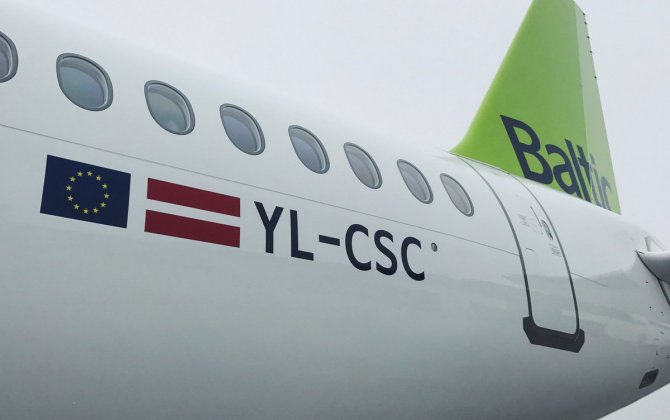 airBaltic Receives Third CS300 Aircraft