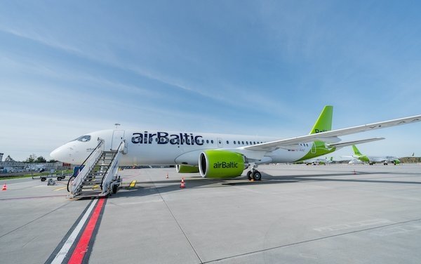 airBaltic 26th Airbus 220-300 delivery and takeover of its passenger handling at Riga Airport
