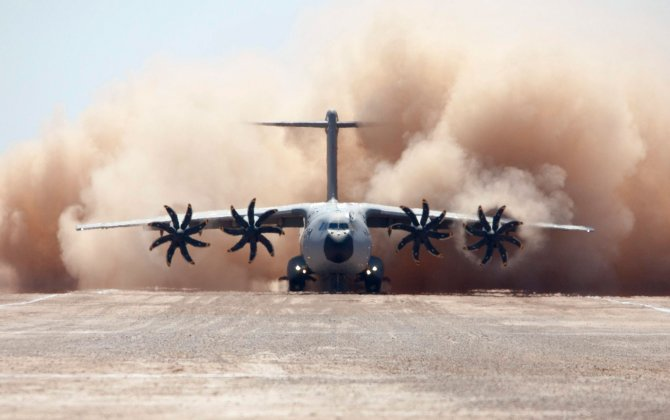 Airbus A400M Makes a Daring Landing on an Unpaved Airstrip