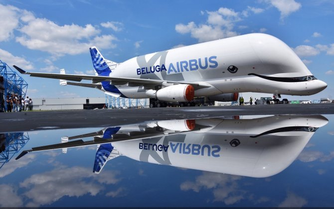 Airbus BelugaXL rolls out of paintshop
