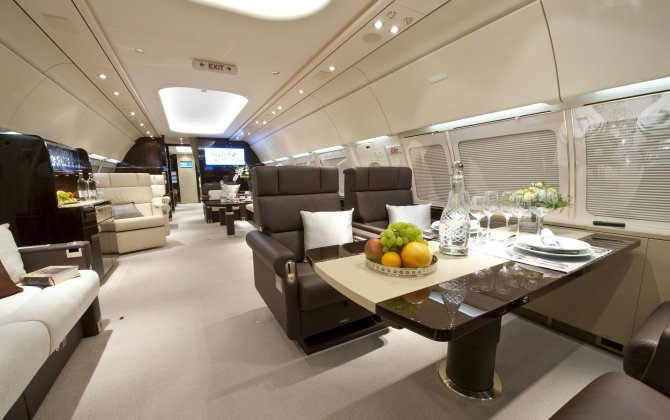 Airbus corporate jet is highlighted at ABACE show