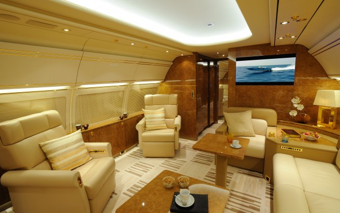 Airbus corporate jet is highlighted at MEBAA show