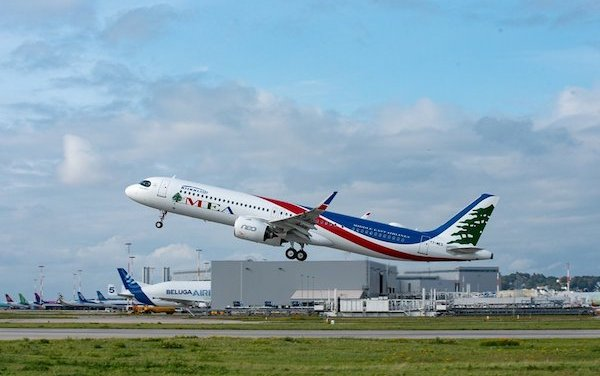 Airbus delivered A320 Family MSN10,000 to Middle East Airlines