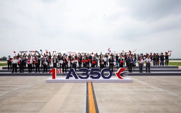 Airbus delivers first A350 from its widebody completion & delivery centre in China