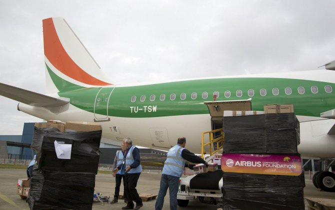 Airbus Foundation and Air Côte d'Ivoire team up for first goodwill flight