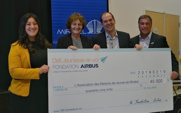 Airbus Foundation Flying Challenge launched in Mirabel to interest local young people in aeronautics