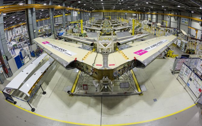 Airbus' Getafe, Spain production facility delivers the first A350-1000 horizontal tail plane
