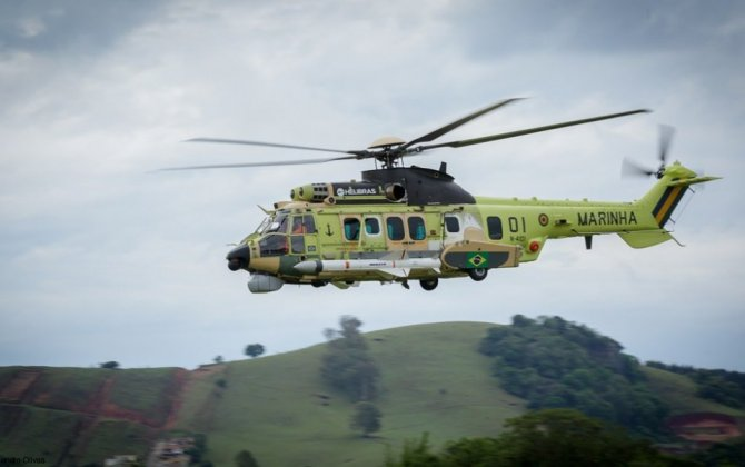 Airbus Helicopters and Helibras introduce first H225M in naval combat version