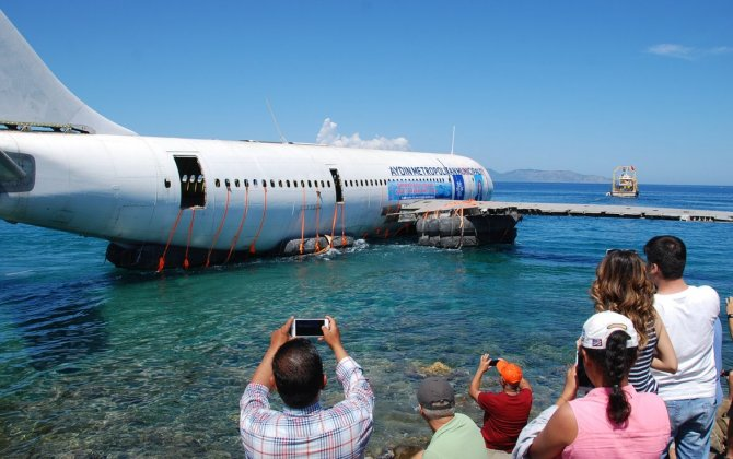 Airbus is sunk off Turkey to become artificial reef