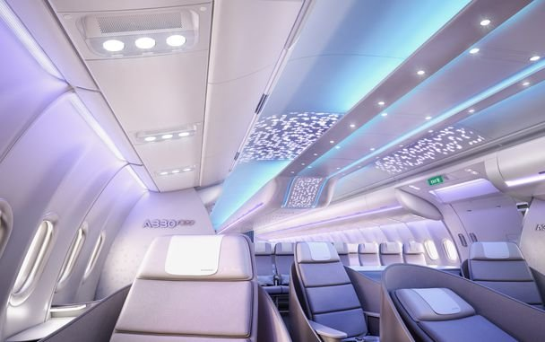 "Aircraft Interiors Expo 2016: Airbus reveals full-scale cabin mock-up of A330neo, showcasing new ""Airspace by Airbus"""